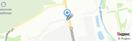 Рулевой-Шинавтотех на карте Челябинска