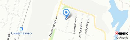 Детский сад №230 на карте Челябинска