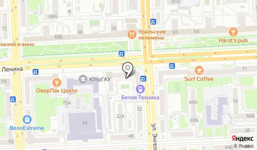 КопиМастер. Схема проезда в Челябинске