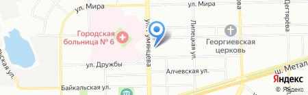 ЗАГС Металлургического района на карте Челябинска