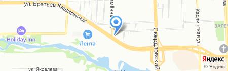 Кентавр на карте Челябинска