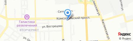 Магазин кондитерских изделий на Комсомольском проспекте на карте Челябинска