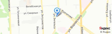 Фигаро на карте Челябинска