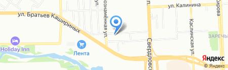Стеклэнд на карте Челябинска