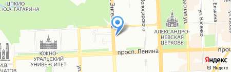 Шарлотка на карте Челябинска