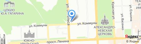 Нотариус Кузьмина Н.В. на карте Челябинска