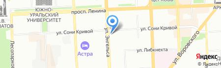 Атлант на карте Челябинска