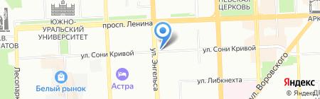 Сфера еды на карте Челябинска
