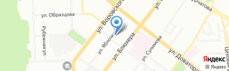 Дачник на карте Челябинска