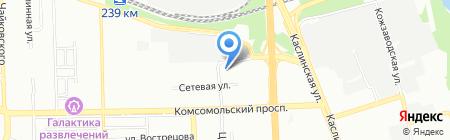 Интеграция на карте Челябинска