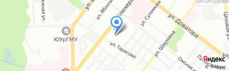 Рица на карте Челябинска