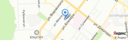 Челябинскгеосъёмка на карте Челябинска