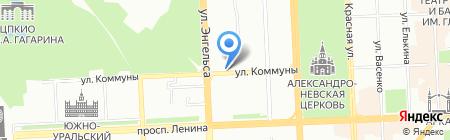 Лаки тур на карте Челябинска