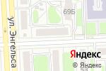 Схема проезда до компании Полосатая клумба в Челябинске