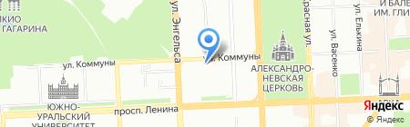 Детская городская поликлиника №14 на карте Челябинска