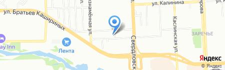 Аква-Леди на карте Челябинска