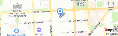 Средняя общеобразовательная школа №67 на карте Челябинска