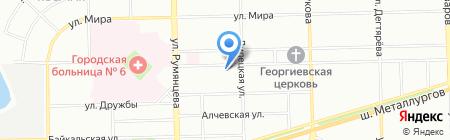 Детский сад №340 на карте Челябинска