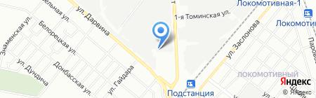 Пирания на карте Челябинска