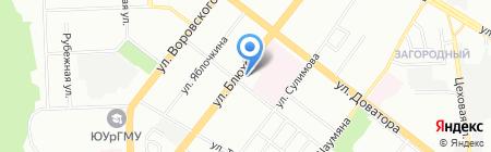 Комплексный центр социального обслуживания населения по Советскому району на карте Челябинска