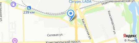 АЗС НОВАТЭК на карте Челябинска
