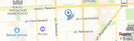Зоомир на карте Челябинска
