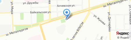 Соседи на карте Челябинска