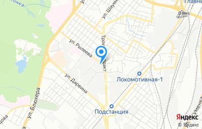 Местоположение на карте пункта техосмотра по адресу г Челябинск, ул Рылеева, д 24