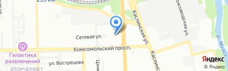 Комиссионный магазин компьютерной техники на карте Челябинска