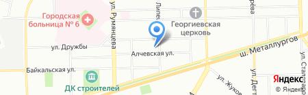 ЮжУралРезерв на карте Челябинска