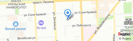Символ на карте Челябинска