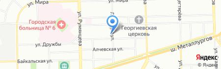 Лагуна на карте Челябинска