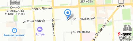Лимпопо на карте Челябинска