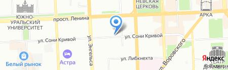 Колибри на карте Челябинска