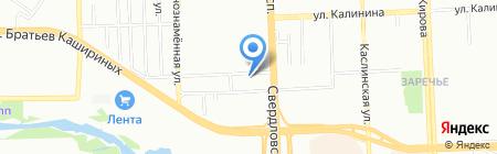 Центр развала-схождения на карте Челябинска