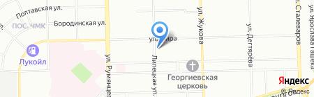 От души на карте Челябинска