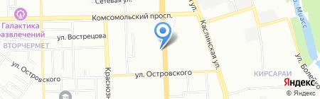 Силуэт на карте Челябинска