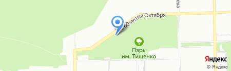 Металлург на карте Челябинска