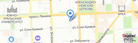 Рай на карте Челябинска