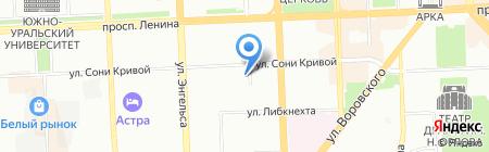 Сладкоежка на карте Челябинска