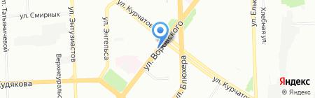 Нимфа на карте Челябинска