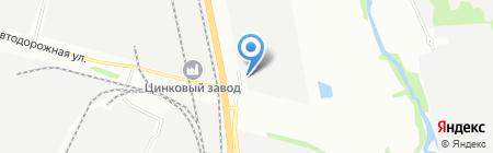 Алексма на карте Челябинска