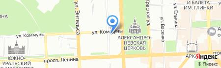 Алюминстрой на карте Челябинска