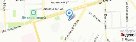 Накси на карте Челябинска