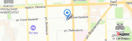 Нилан-Аудит на карте Челябинска