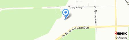 Детский сад №208 на карте Челябинска