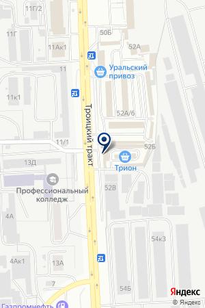 ТОРГОВЫЙ ДОМ МЯСНАЯ ДУША на карте Челябинска