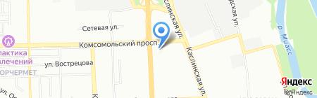 Союз садоводов России на карте Челябинска