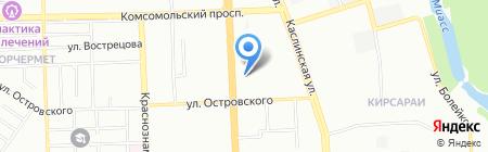 Арсенал-Аналитик на карте Челябинска