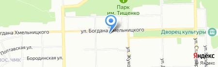 Диана на карте Челябинска